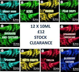 V-Juice® 12 X 10ML  E-Liquid E-Cig Vape Juice STOCK CLEARANCE