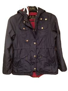 BARBOUR International Jacket Size XL AGE 12/13 Waterproof Breathable See Pics