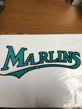 FLORIDA MARLINS SCRIPT IRON ON JACKET PATCH