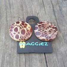 New MAGGIEZ Sandal Flip-Flop INTERCHANGEABLE Strap Button   Leopard Cheetah Skin