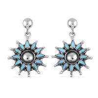 Southwest Jewelry Dangle Drop Earrings 925 Sterling Silver Turquoise Jewelry