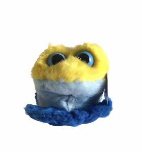 Puffkins Plush Stuffed Animal Vintage Swibco Winky Yellow Blue Frog