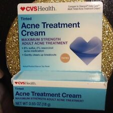 DAILY CLEAR ACNE TREATMENT CREAM sulfur, CVS generic for Clearasil, tinted,10/18