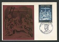 ANDORRA MK 1967 FRESKO JESUS CHRISTUS MAXIMUMKARTE MAXIMUM CARD MC CM c9380