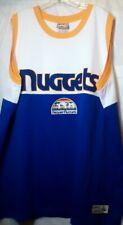 Denver Nuggets Hardwood Classics Throwback Jersey NBA Rainbow Majestic