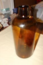 "Vintage Glass amber bottle 15"" tall"