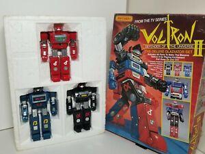 Vintage Voltron II Deluxe Gladiator Set Matchbox Lightspeed Albegas Bandai 1980s