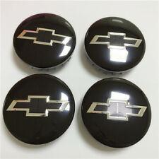 "4pcs Wheel Center Hub Cap for Chevy Suburban Silverado 14-20 3.25"" 83mm Black"