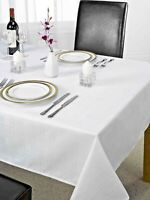 NEW Jacquard Tablecloth in White 127 *178 cm Luxury Style Oxford