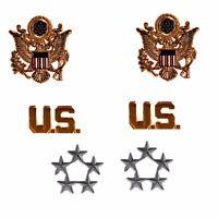 PAIR WWII US MILITARY FIVE STAR RANK RANKS  BADGE US FIVE STAR INSIGNIA PINS-246