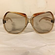 True Vtg 60-70s Oversized Bug Butterfly Sunglasses Jackie O Style Made in France