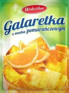 Götterspeise  Beutel zu 75g Orangen-Geschmack Wackelpudding Pulver Wodzislaw