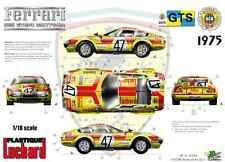 """[FFSMC Productions] Decals 1/18 Ferrari 365 GTB/4 """"Luchard"""" 24 Heures du Mans 75"""