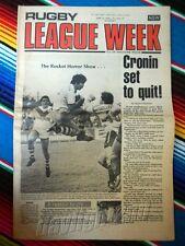 ✺RUGBY LEAGUE WEEK✺ 1978 Vol 9 No 17 ST GEORGE DRAGONS Rod Reddy NRL Big
