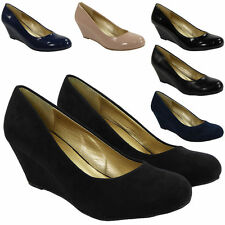 Faux Suede Wedge Casual Shoes for Women