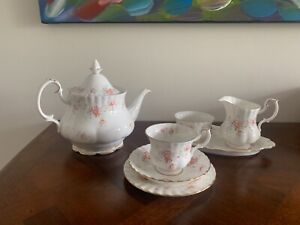 Royal Albert Peach Rose Teaset