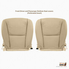 DRIVER-PASSENGER Bottom Tan Perforated Leather Cover For 08 09 Lexus GS350 Sedan
