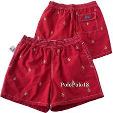 New Polo Ralph Lauren Trunks Swim Shorts Embroidered Cotton Blend