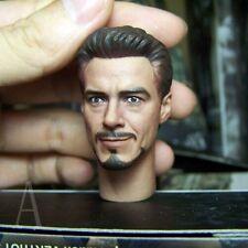 Custom 1/6 Tony Stark MK7 Mark VII XLII Head Sculpt Hot Armor Testing Ironman