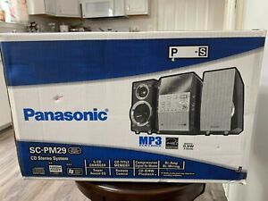 Panasonic SC-PM29 CD Stereo System 5-CD CHANGER,CD TITLE,CD-R/RW,MP3,140W,SEALED