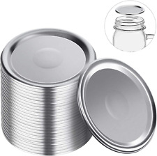 36PCS Wide Mouth Canning Jar Lids Wide Split-Type And Leak 100% Proof Pack