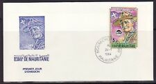 Mauritania, Scott cat. 553. World Scout Jamboree, IMPERF issue. First day cover.