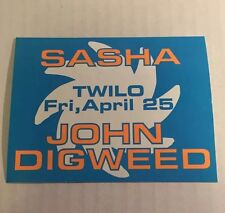Rare Vintage 1990s NYC Club Flyer: SASHA & DIGWEED @ TWILO NYC Sticker