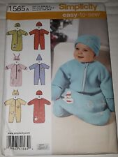 Baby Bunting Romper Hat Size XXS-X-Small-Small Simplicity 1565 Sewing Patterns