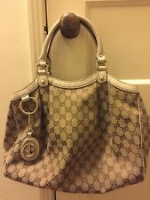 Gucci Monogram Canvas/Leather Sukey Tote Handbag