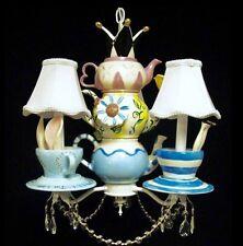 Alice In Wonderland Mad Hatter Tea Party  Chandelier  - Kids Lighting