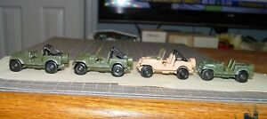 ⚔Roll PATROL⭐Jeep CJ-7❌LOT of 4💎Hot Wheels 1981-88🚀Action COMMAND⭐Vintage❌USED