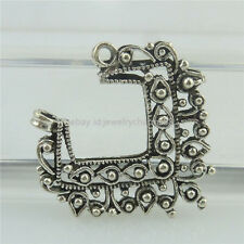 18463 20PCS Vintage Tibetan Silver Hollow Pendant Connector Filigree Flower
