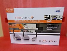 TRULink,  p/n  29596,  Wireless USB to VGA and Audio KIT,  30' wireless range