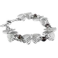 Butterfly Bracelet Spring Multiple butterflies w. Smoke Quartz Jewelry Controse