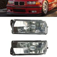 Front Bumper Driving Fog Lights Lamp Clear Lens Housing Case For BMW E36 92-98