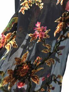 Umgee Black Tattoo Sleeve Velvet Burnout Sleeve Top/Shirt/Blouse