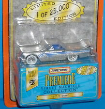 1997 MATCHBOX Premiere '57 Ford Thunderbird T-Bird Silver Real Riders 1957