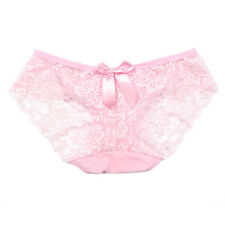 Beautiful Lady Promation Briefs Hollow Panty Flowers Bow-knot Underwear Knicker