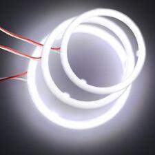 COB LED Angel Eyes Headlight Halo Ring Warning Lamps - 2Pcs 100MM 6000K