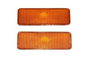 2 Front Parking Turn Signal Light Lens Ford Truck Bronco F150 F250 F350 80-86