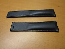 100% Genuine Tag Heuer Leather Watch Band 22 MM (Black)
