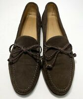 STUBBS & WOOTTON MEN'S BROWN SUEDE PENNY LOAFERS, 9.5 D, $595