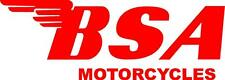 BSA MOTORCYCLES DECAL / STICKER - SET OF 2 - RED