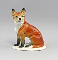 9941398 Porzellan Figur Listiger Fuchs Ens 17,5x9x21,5cm