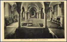 QUEDLINBURG 1917 Feldpost AK Krypta Schlosskirche