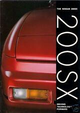 Nissan 200 SX 1989-90 UK Market Sales Brochure Silvia