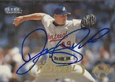 Jeremy Powell Montreal Expos 1998 Fleer Update Signed Card