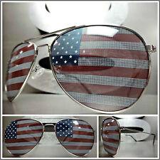 New CLASSIC VINTAGE RETRO Style PATRIOTIC SUN GLASSES USA US AMERICAN Flag Frame