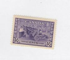 CANADA (MK3558) # 261 VF-MLH  50cts MUNITIONS FACTORY /1942/VIOLET CAT VALUE $50
