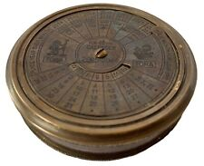 CALENDER COMPASS BRASS COMPASSES SHIPS FROM MELBOURNE - Nautical